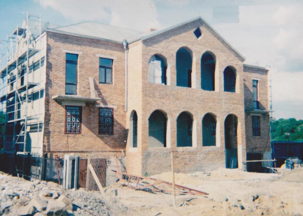 Podczas budownictwa Domu Polskiego, maj 1999 roku