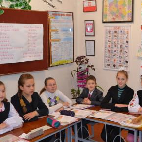 O Bożym Narodzeniu w szkole wsi Denyszy rejonu Żytomierskiego