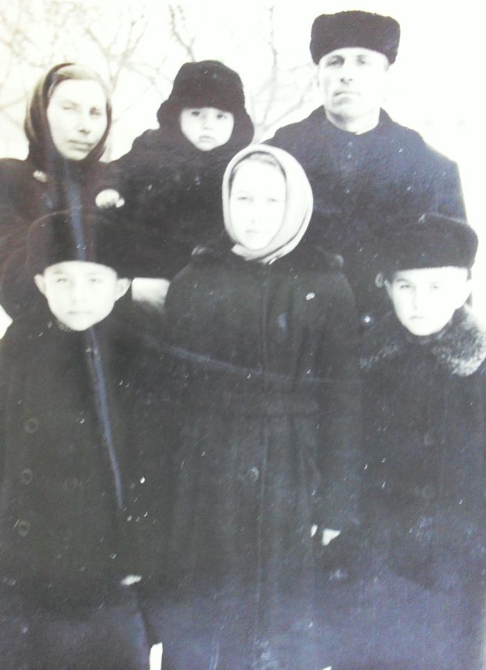 Witalij i Walentyna Kurjaty z dziećmi (lata 60-te)