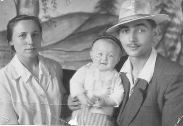 Marjan Kondratowicz z rodziną (lata 50.)