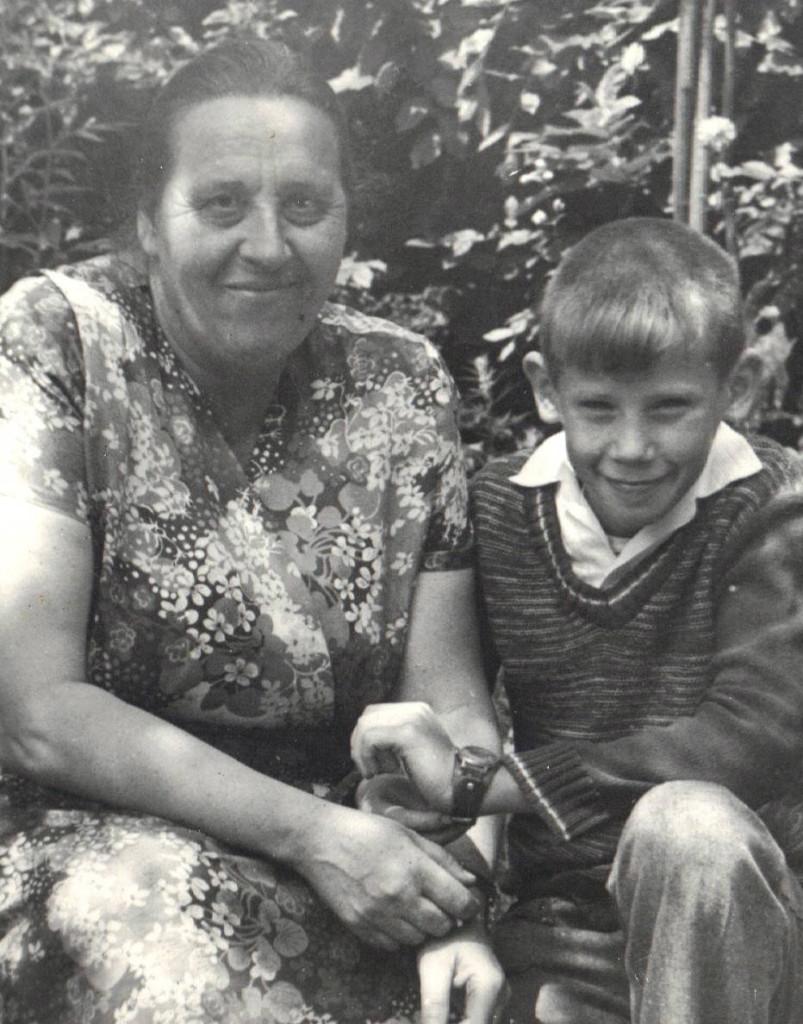 Z synem Jarosławem (Lubar, lata 70.)