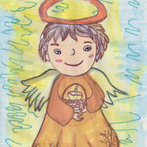 Kartka Wielkanocna od uczniów Sobotnich Kółek Twórczych